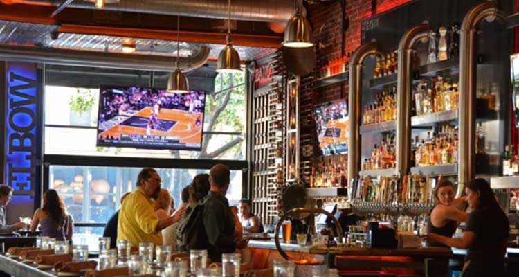 downtown bars for football
